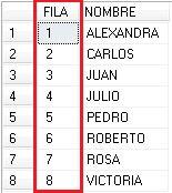 tabla ejemplo con num linea