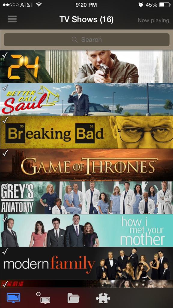 Al igual que con las películas, podemos ver nuestras series que tenemos en Kodi.
